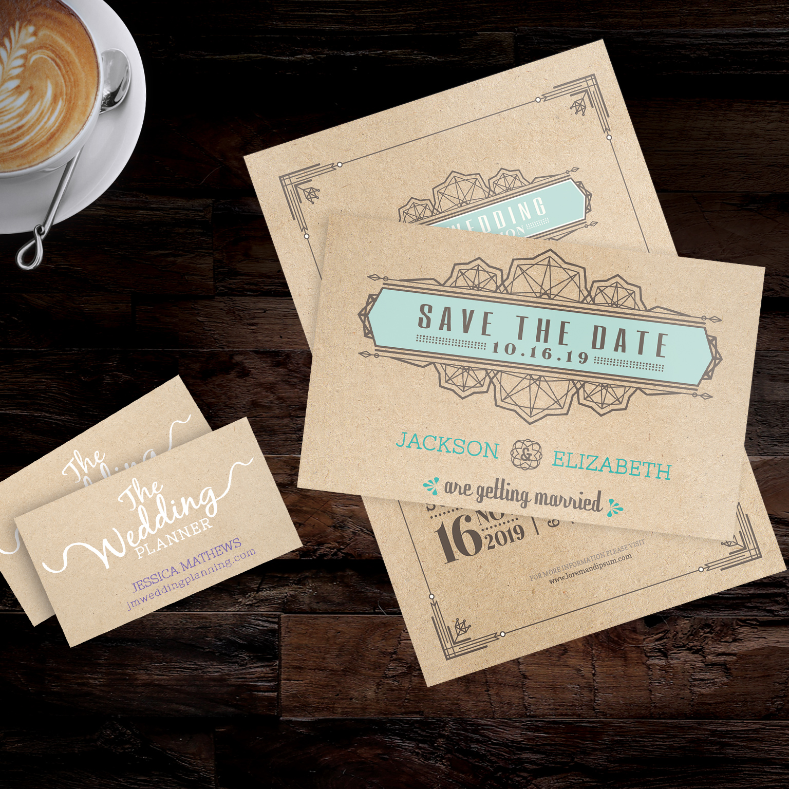 Brown Kraft Cards from Envision Print Shop