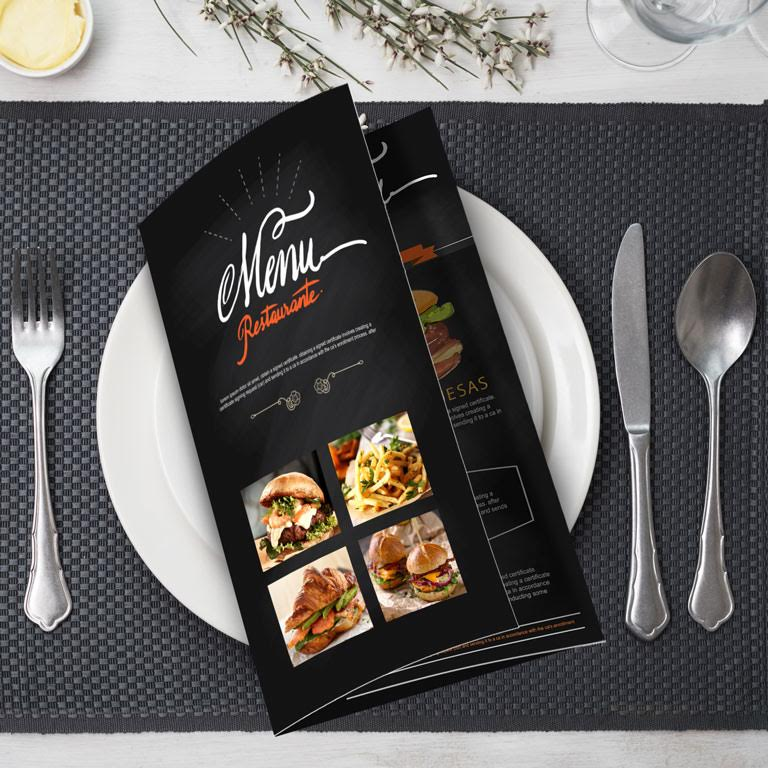 Restaurant Menus from Envision Print Shop